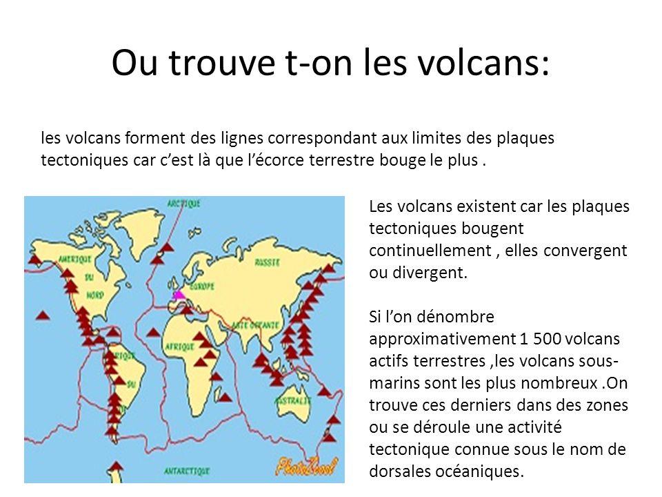 Ou trouve t-on les volcans: