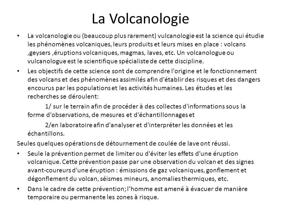 La Volcanologie