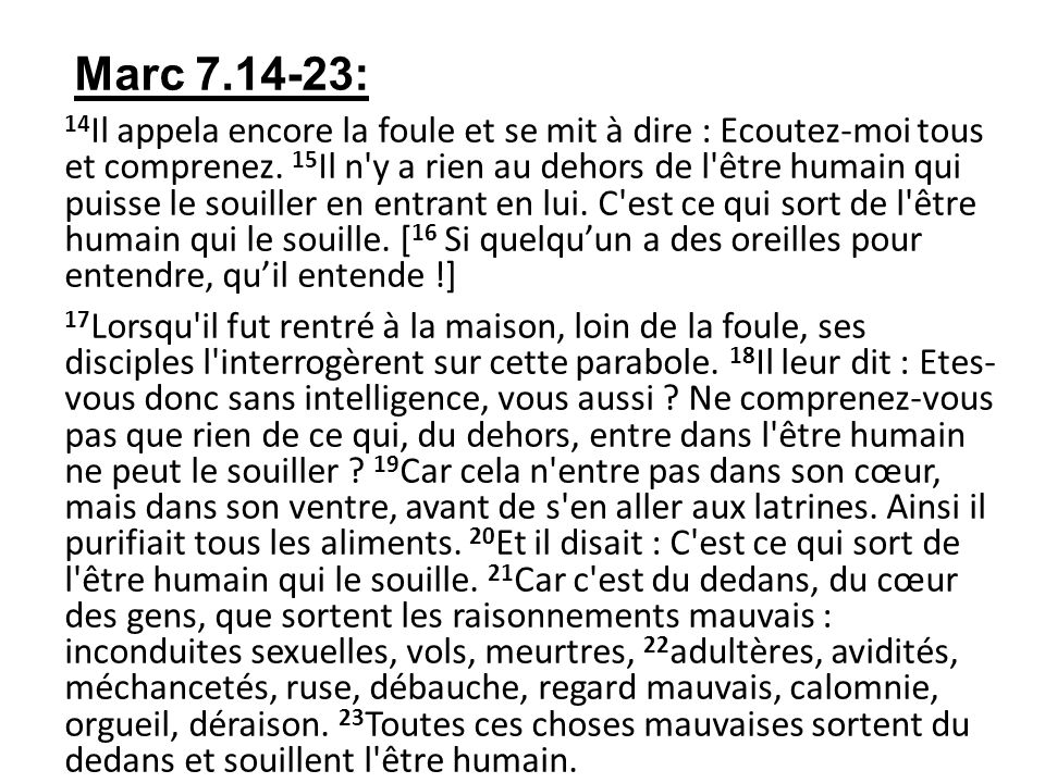 Marc 7.14-23: