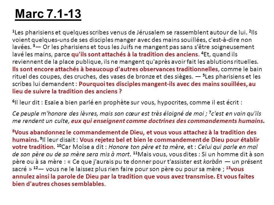 Marc 7.1-13