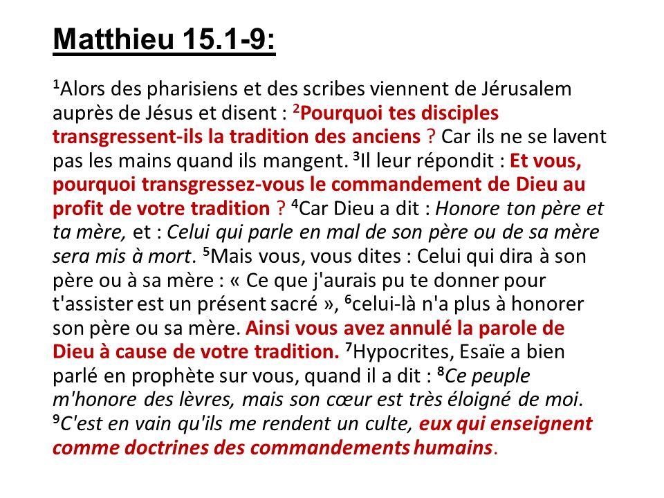 Matthieu 15.1-9:
