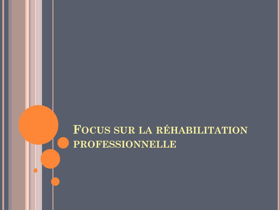 Focus sur la réhabilitation professionnelle