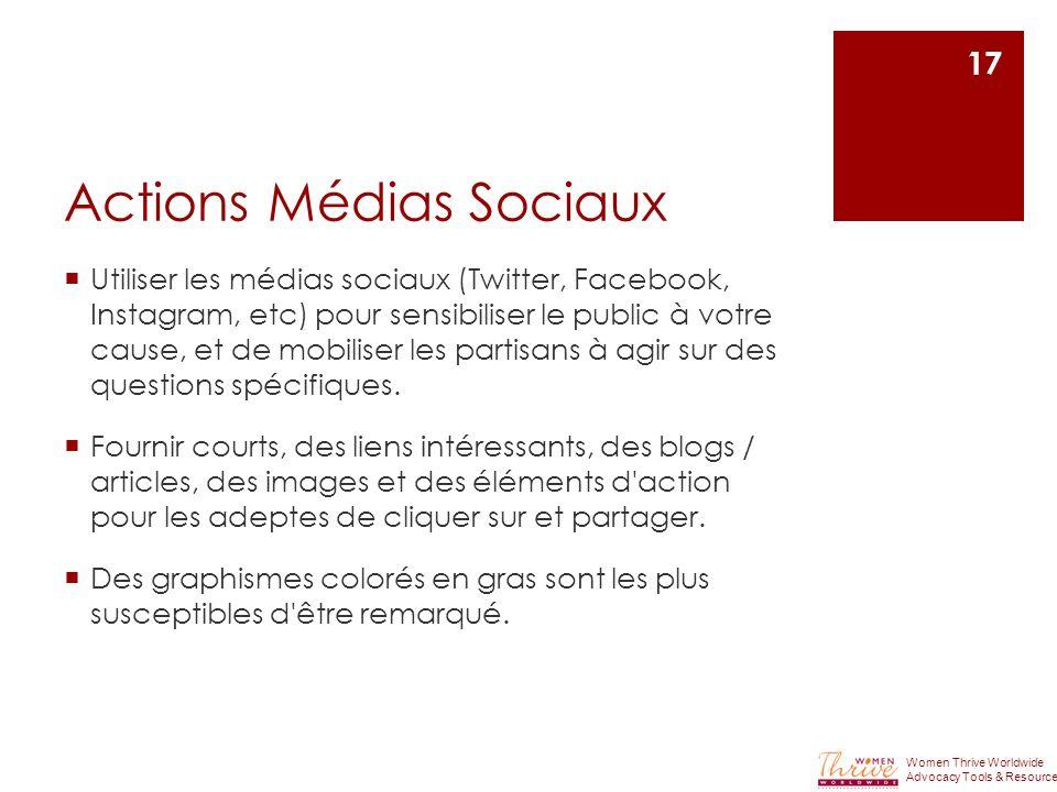 Actions Médias Sociaux
