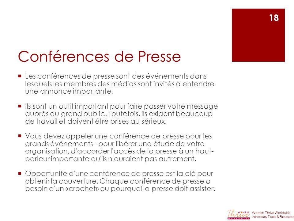 Conférences de Presse