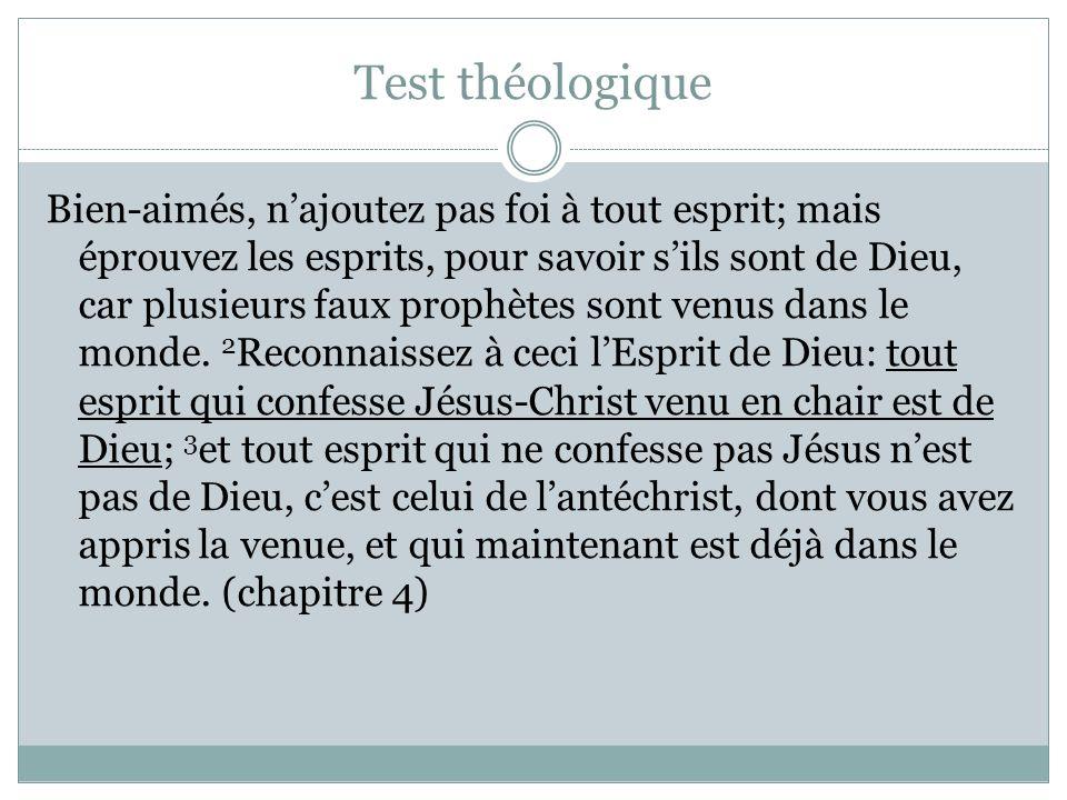 Test théologique