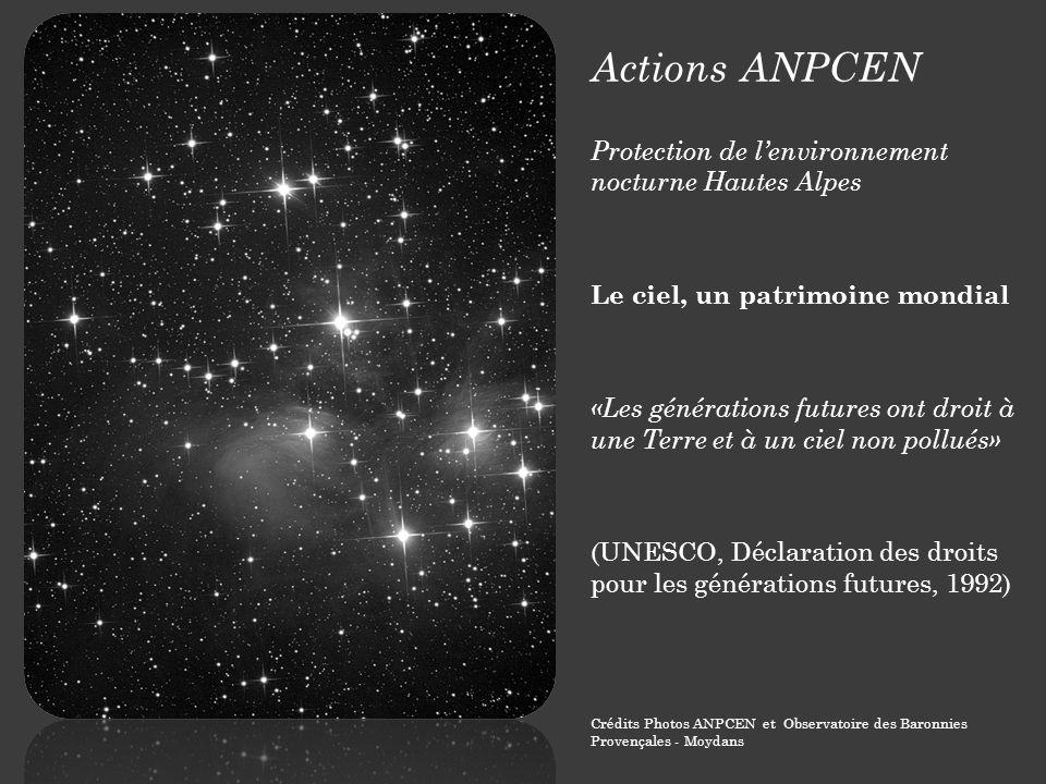 Actions ANPCEN Protection de l'environnement nocturne Hautes Alpes