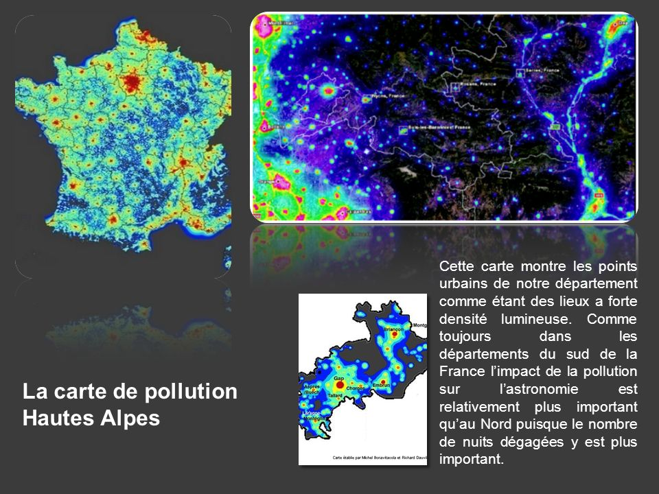 La carte de pollution Hautes Alpes