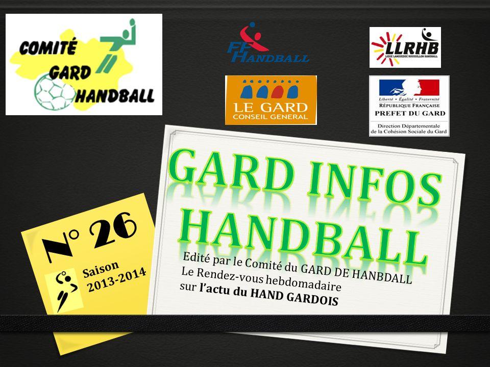 GARD INFOS HANDBALL N° 26 Saison 2013-2014