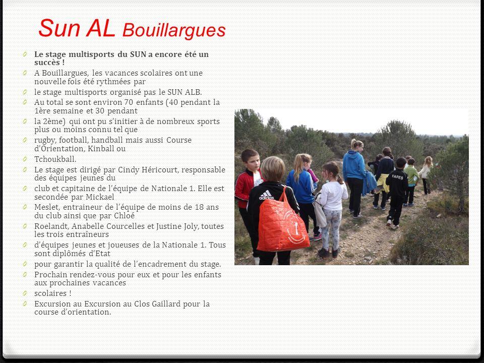 Sun AL Bouillargues Le stage multisports du SUN a encore été un succès !