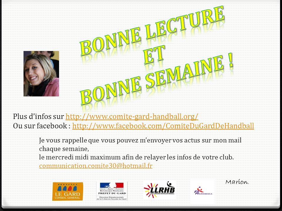 Bonne lecture Et BONNE SEMAINE !