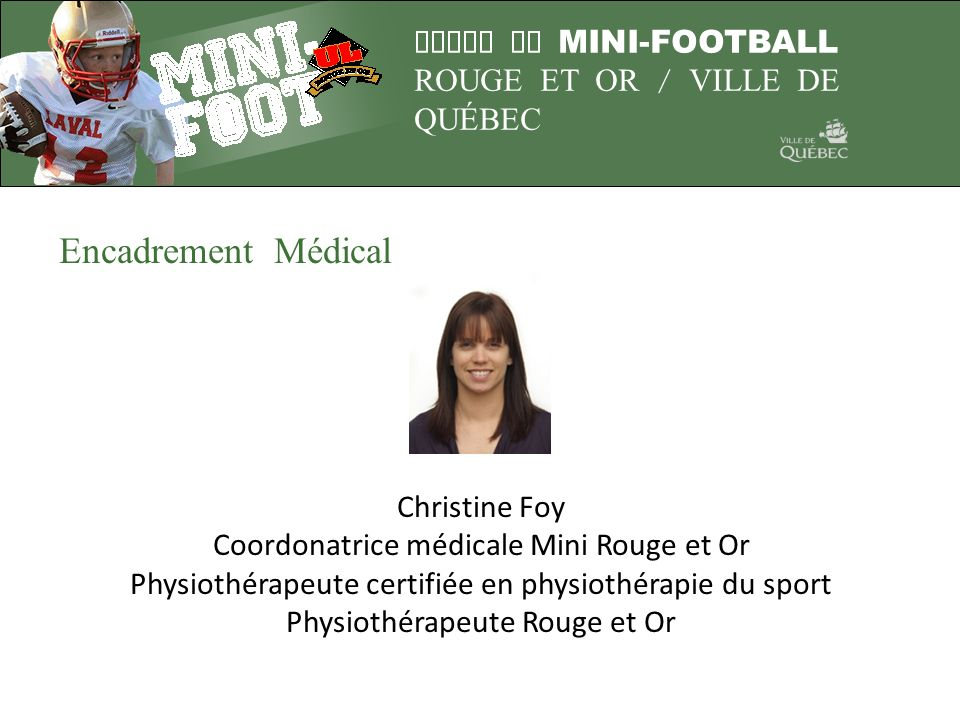 Encadrement Médical Christine Foy