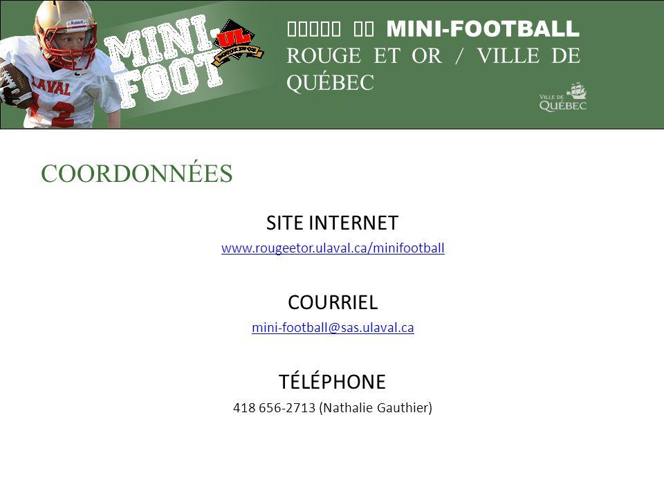 COORDONNÉES SITE INTERNET COURRIEL TÉLÉPHONE
