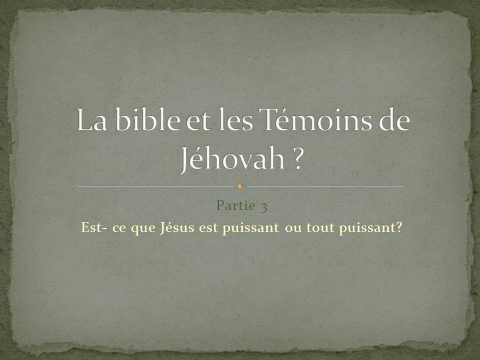 La bible et les Témoins de Jéhovah