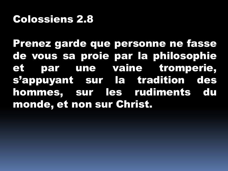 Colossiens 2.8