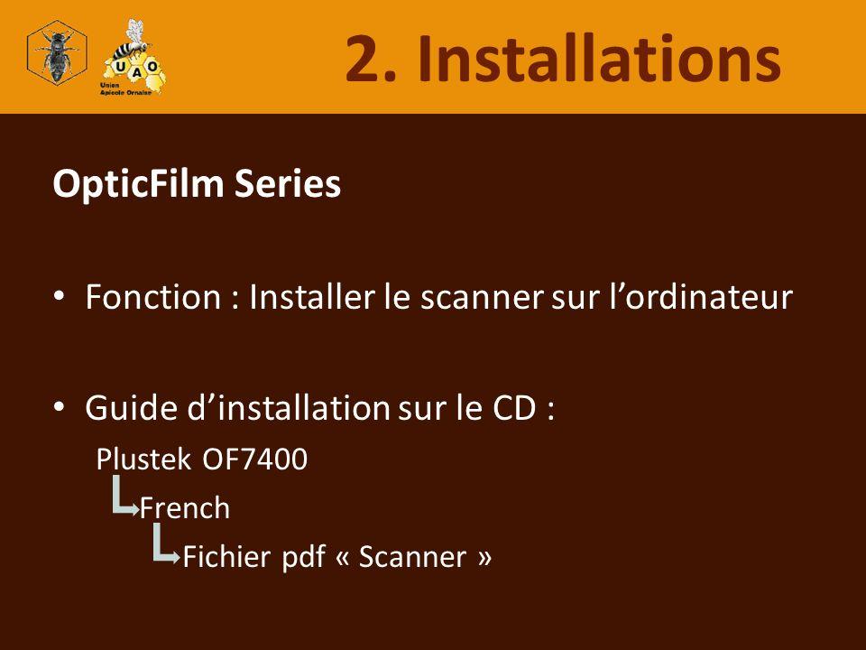 2. Installations OpticFilm Series