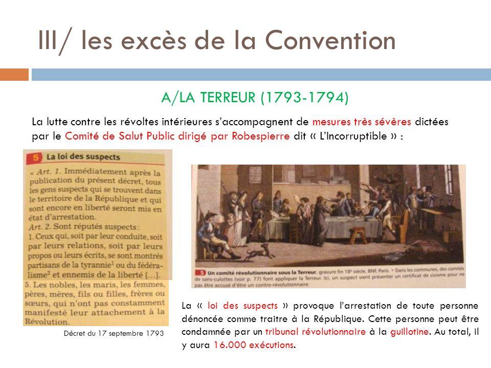III/ les excès de la Convention