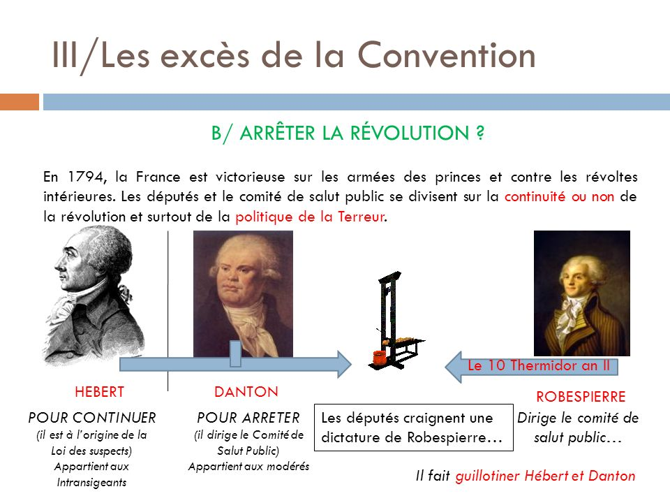 III/Les excès de la Convention