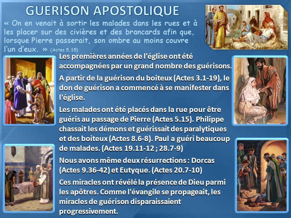 GUERISON APOSTOLIQUE