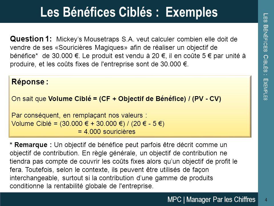 Les Bénéfices Ciblés : Exemples