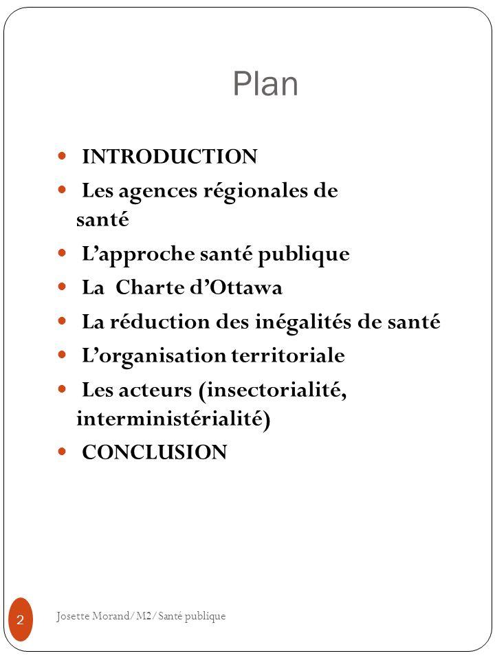 Plan INTRODUCTION Les agences régionales de santé