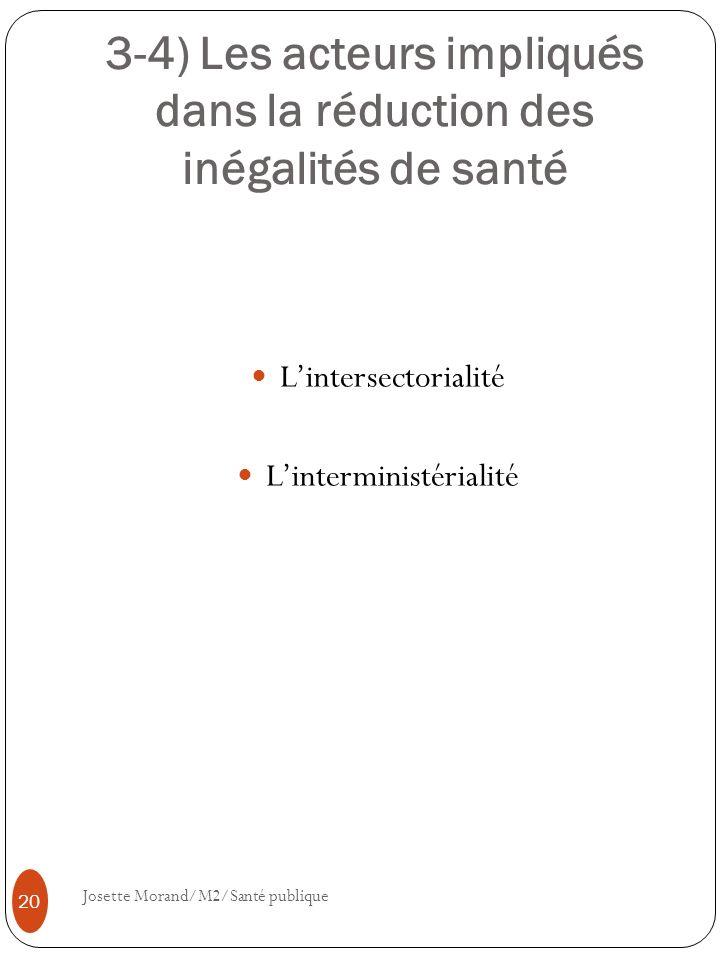 3-4) Les acteurs impliqués dans la réduction des inégalités de santé