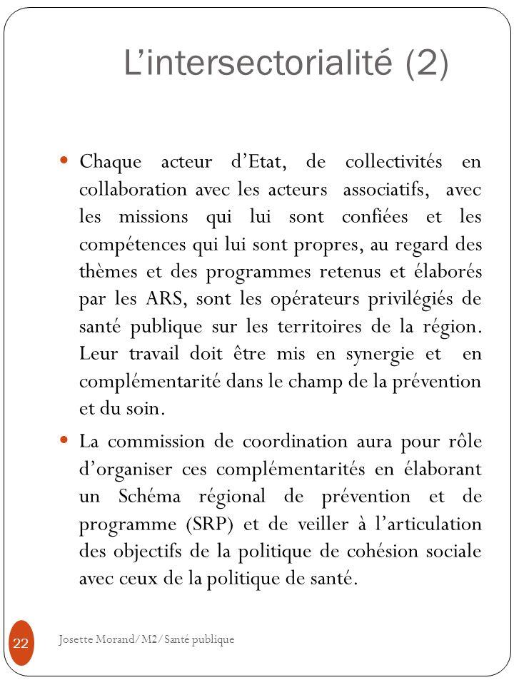 L'intersectorialité (2)