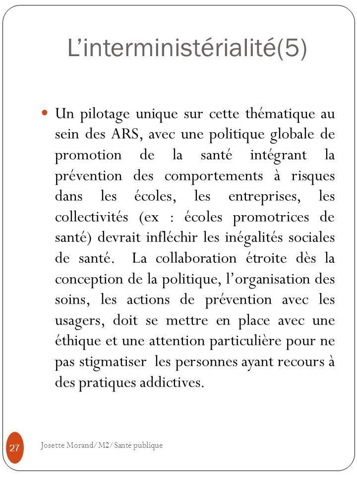 L'interministérialité(5)