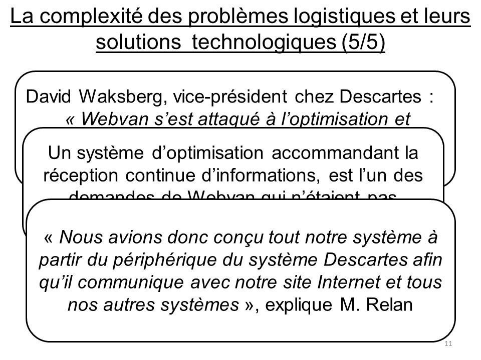 La complexité des problèmes logistiques et leurs solutions technologiques (5/5)