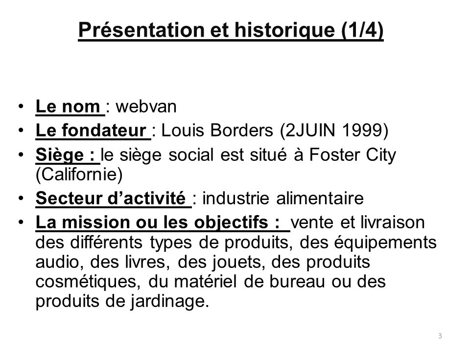 Présentation et historique (1/4)