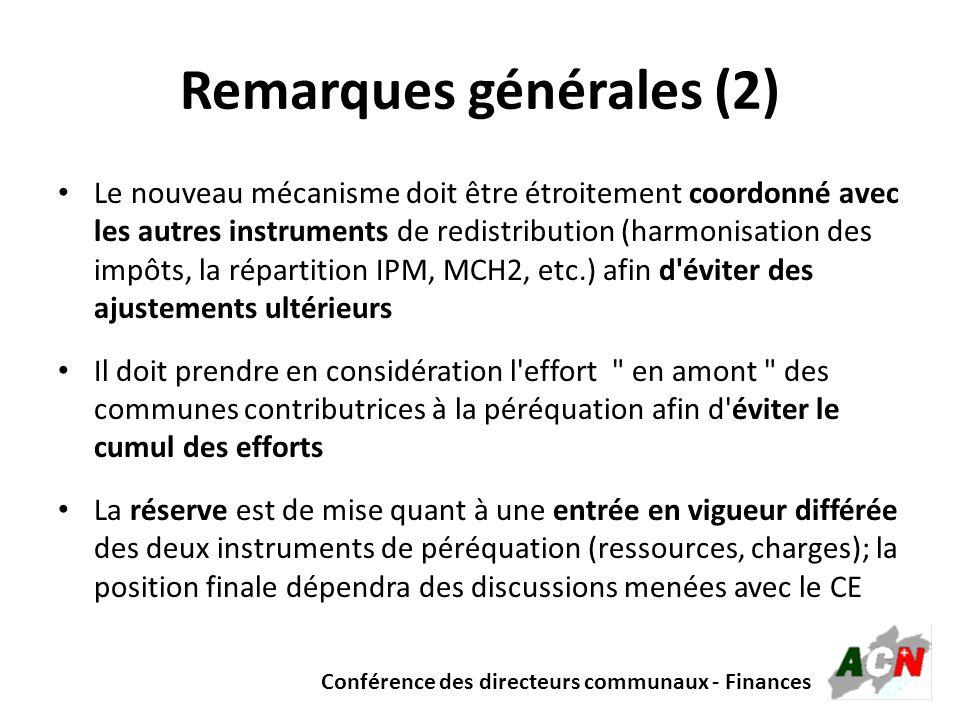 Remarques générales (2)