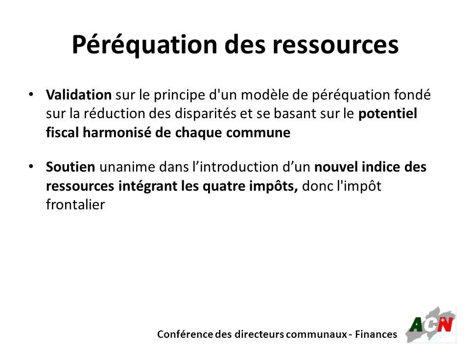 Péréquation des ressources