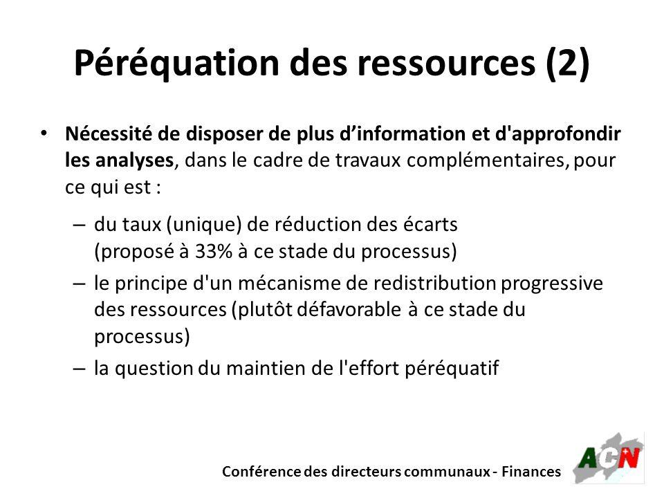 Péréquation des ressources (2)