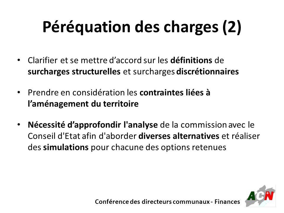 Péréquation des charges (2)