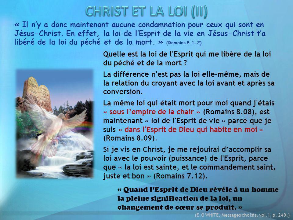 CHRIST ET LA LOI (II)