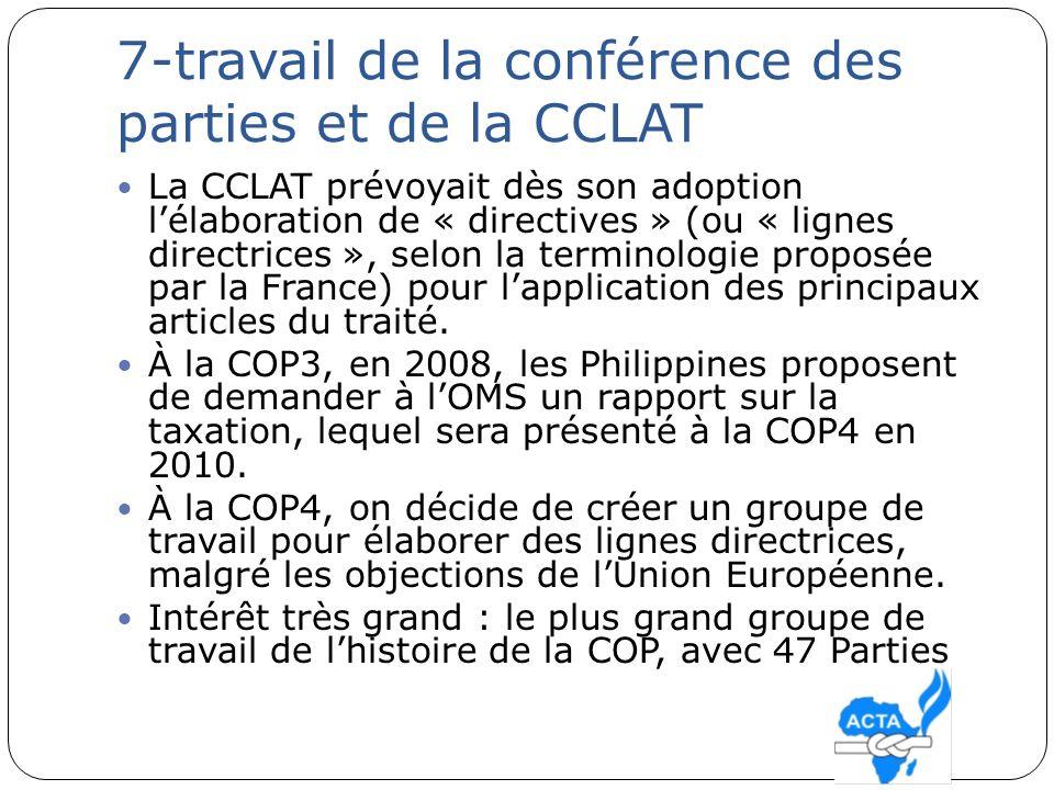 7-travail de la conférence des parties et de la CCLAT