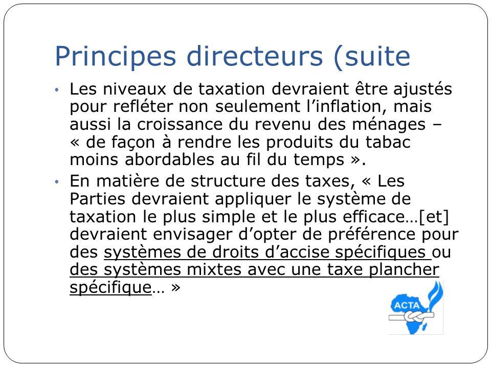 Principes directeurs (suite