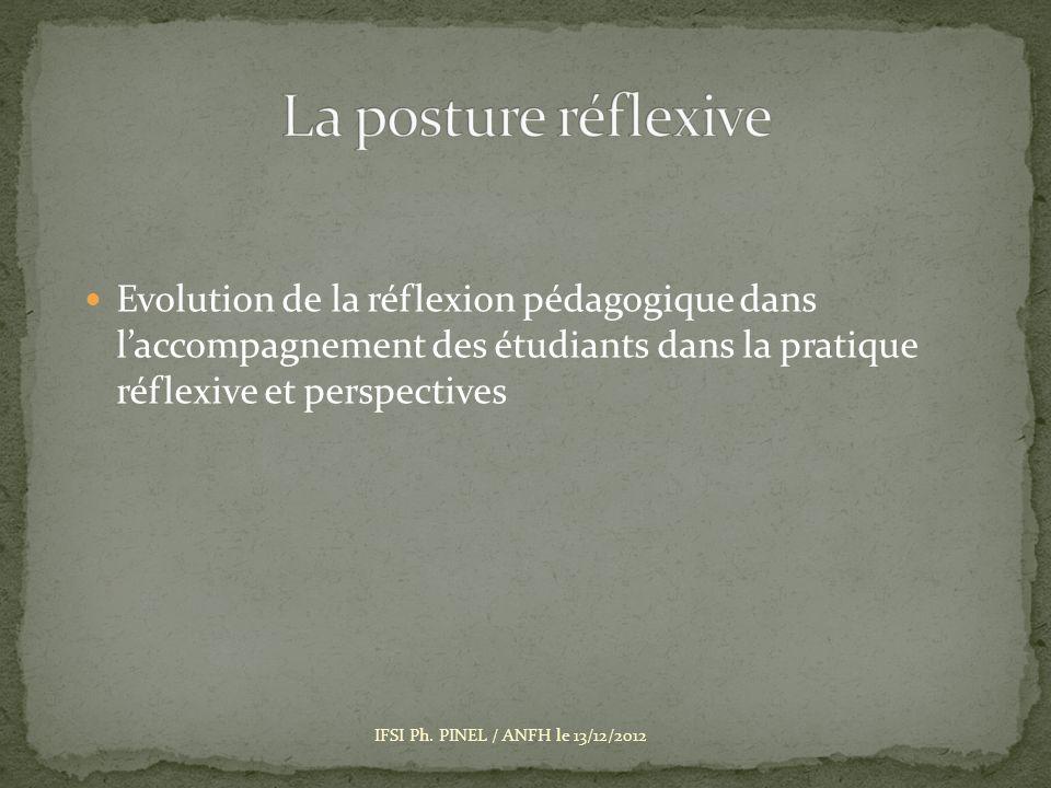 La posture réflexive Evolution de la réflexion pédagogique dans l'accompagnement des étudiants dans la pratique réflexive et perspectives.