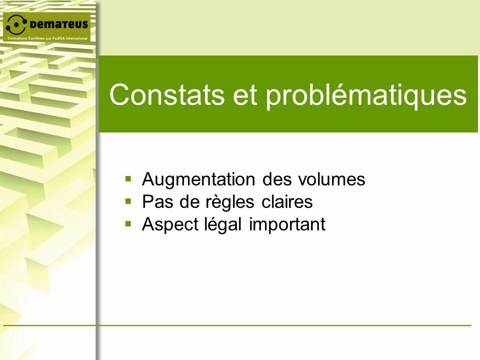Constats et problématiques