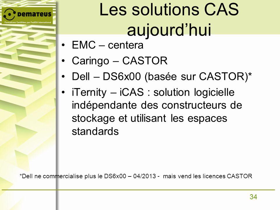 Les solutions CAS aujourd'hui