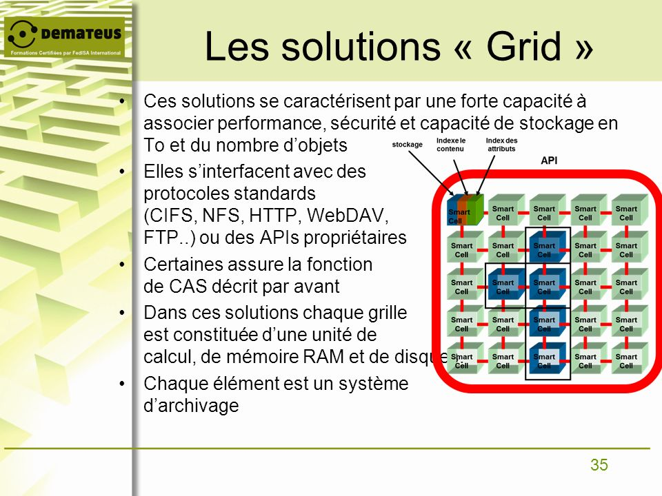 Les solutions « Grid »