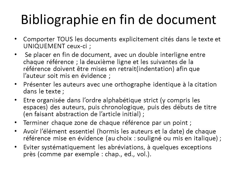 Bibliographie en fin de document