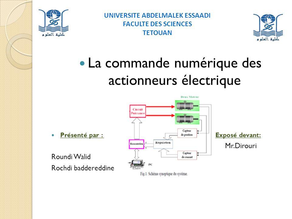 La commande numérique des actionneurs électrique