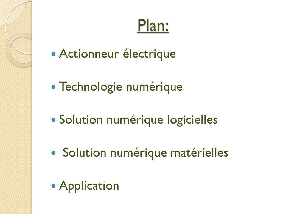 Plan: Actionneur électrique Technologie numérique