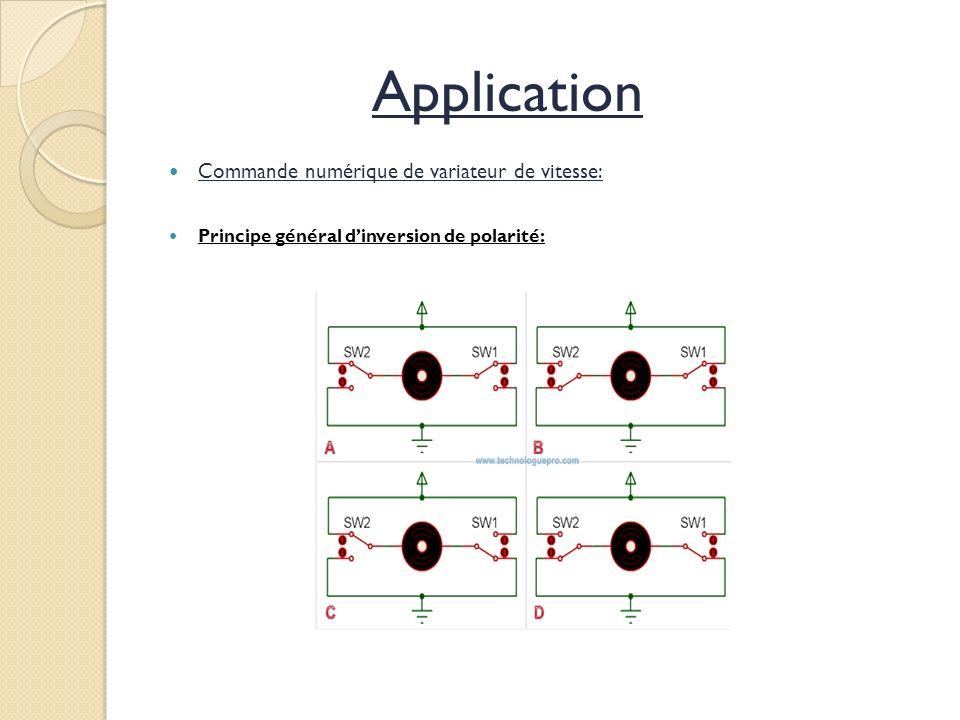Application Commande numérique de variateur de vitesse: