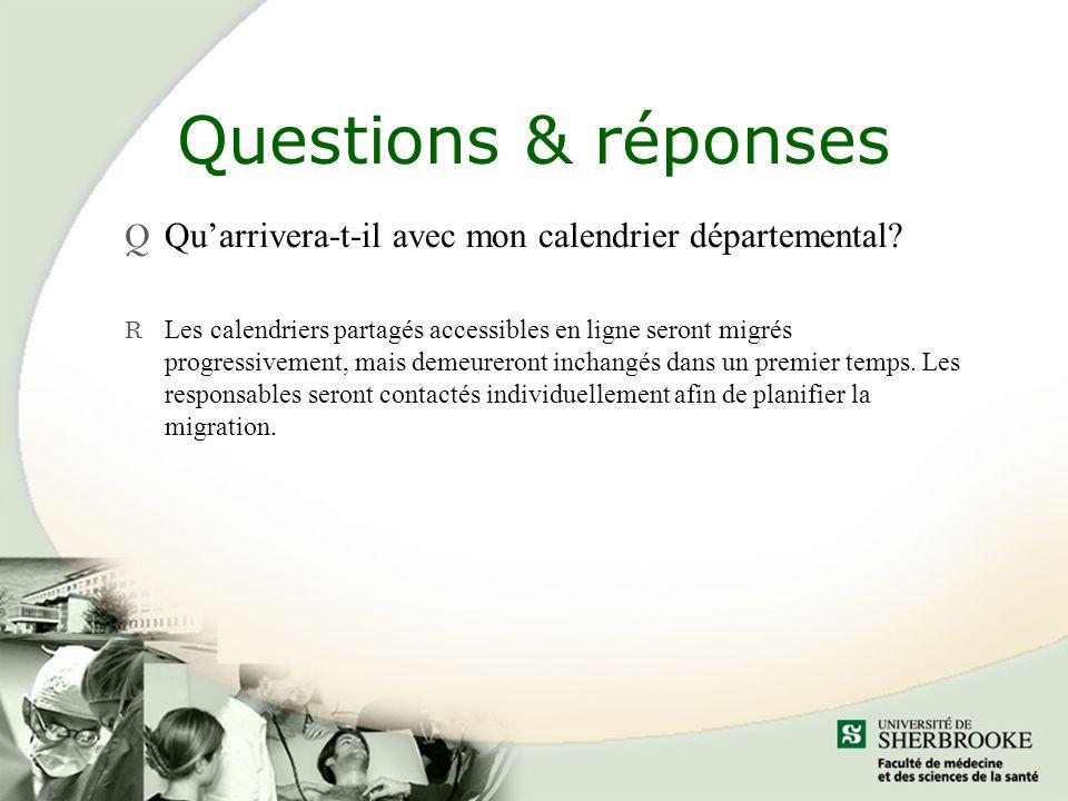 Questions & réponses Qu'arrivera-t-il avec mon calendrier départemental