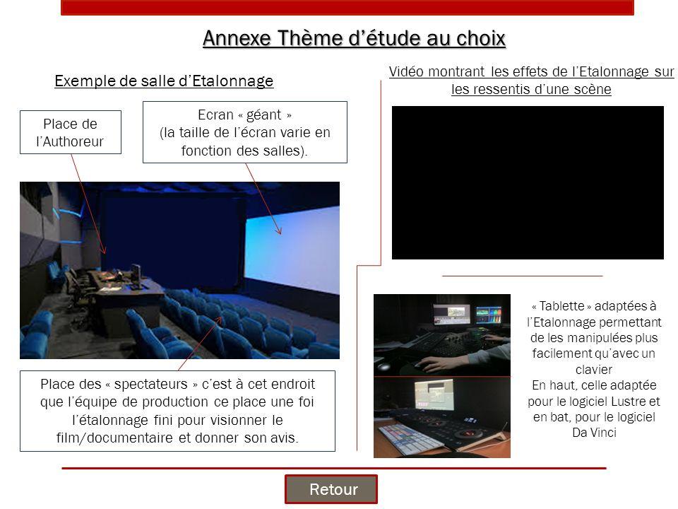 Ecran « géant » (la taille de l'écran varie en fonction des salles).