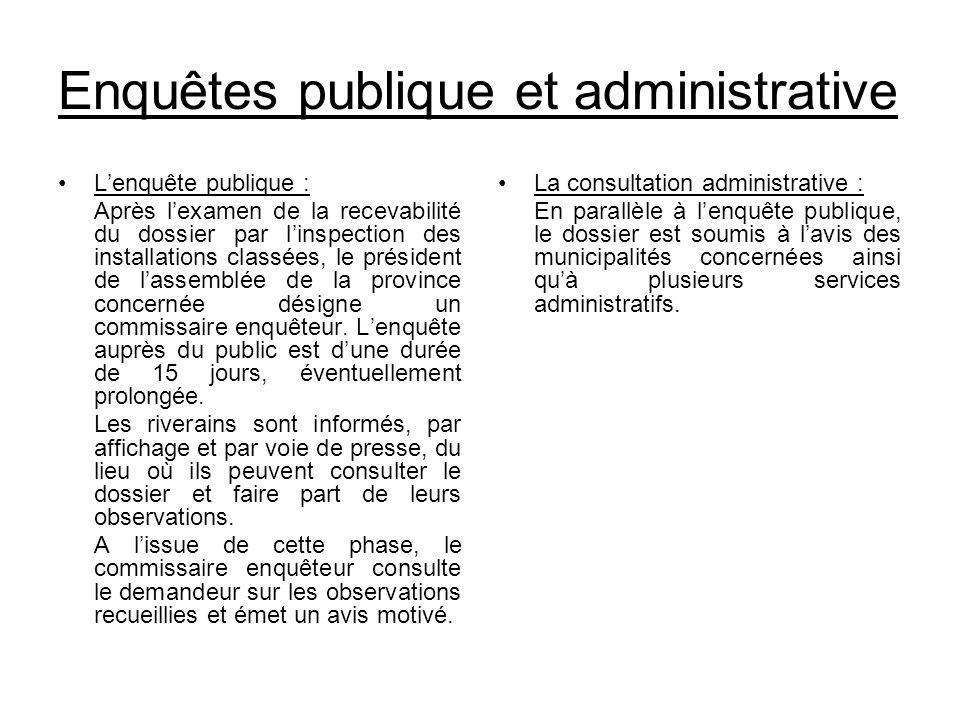 Enquêtes publique et administrative