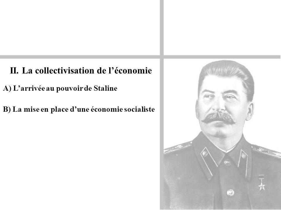 II. La collectivisation de l'économie