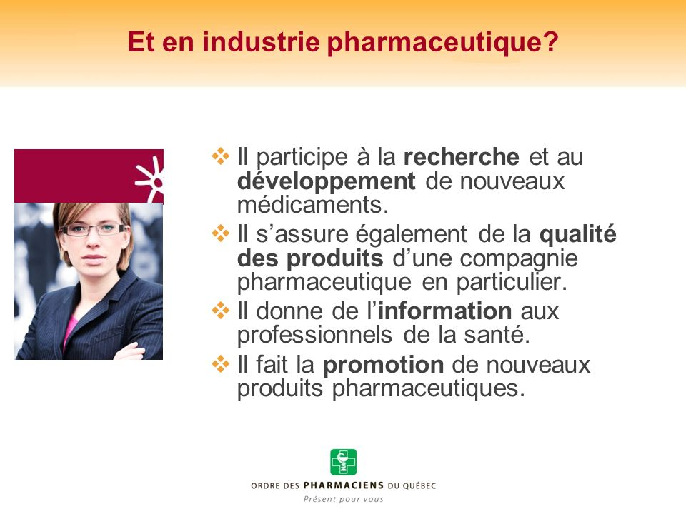 Et en industrie pharmaceutique