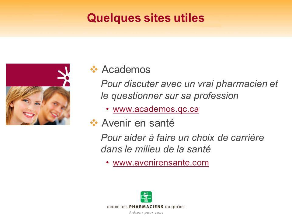 Quelques sites utiles Academos Avenir en santé